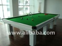 Snooker Table in Fenomastic pure royal white color