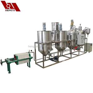 Factory direct sale 1-6 ton per day multi-functional crude refining edible  oil/groundnut oil refining machine
