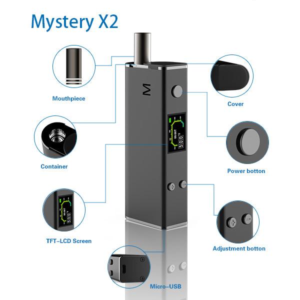 Easy-to-use dry herb vape mod Mystery X2 vaporizer dry herb vaporizer e
