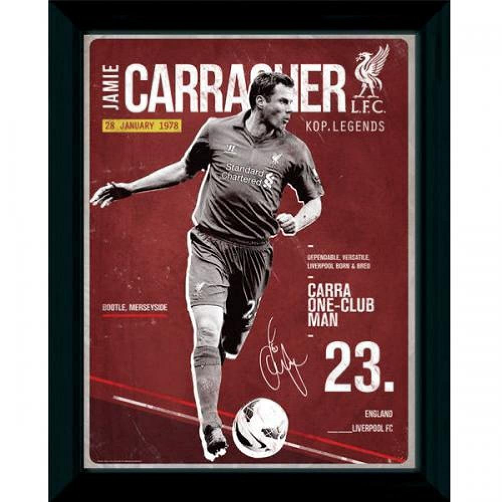 1b5ae34b0dc Get Quotations · Football Gifts - Liverpool Fc Gift Ideas - Official  Liverpool Fc Retro Carragher Picture (16