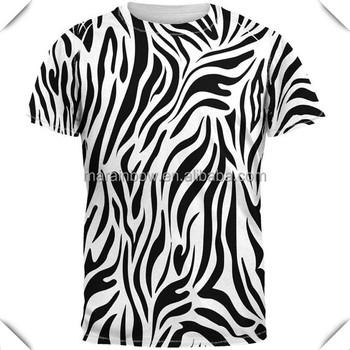 Blanco estampado de cebra sublimado camiseta sublimación impresión 100%  poliéster de secado ... 031cb574b53e0