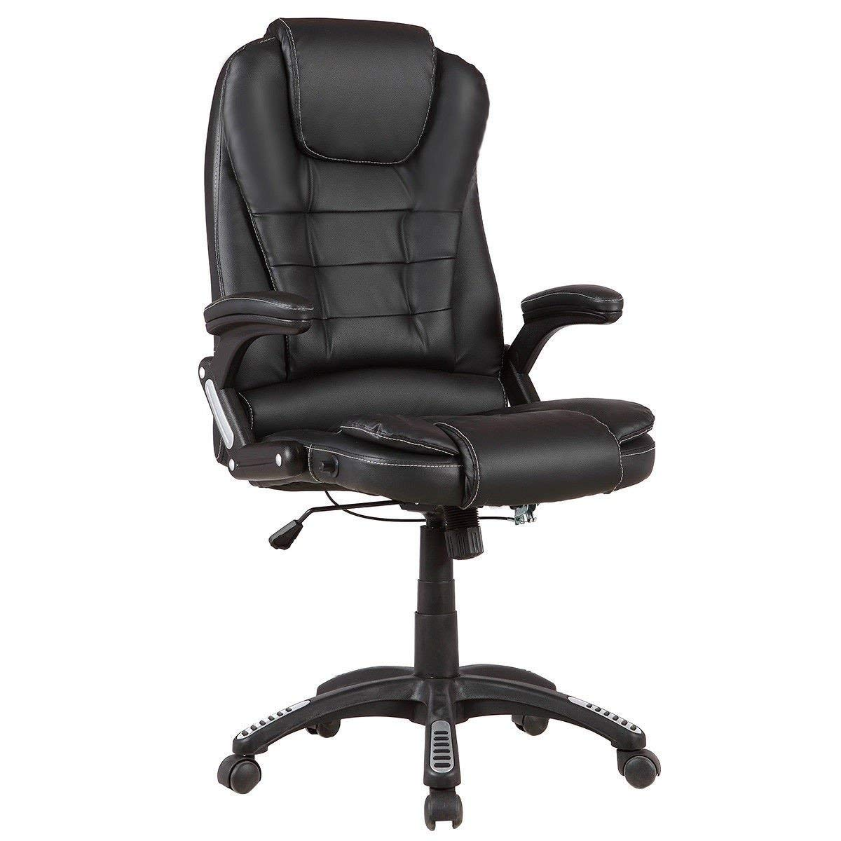 Svitlife Executive High Back Recliner Office Chair Gaming Recliner Leather Footrest