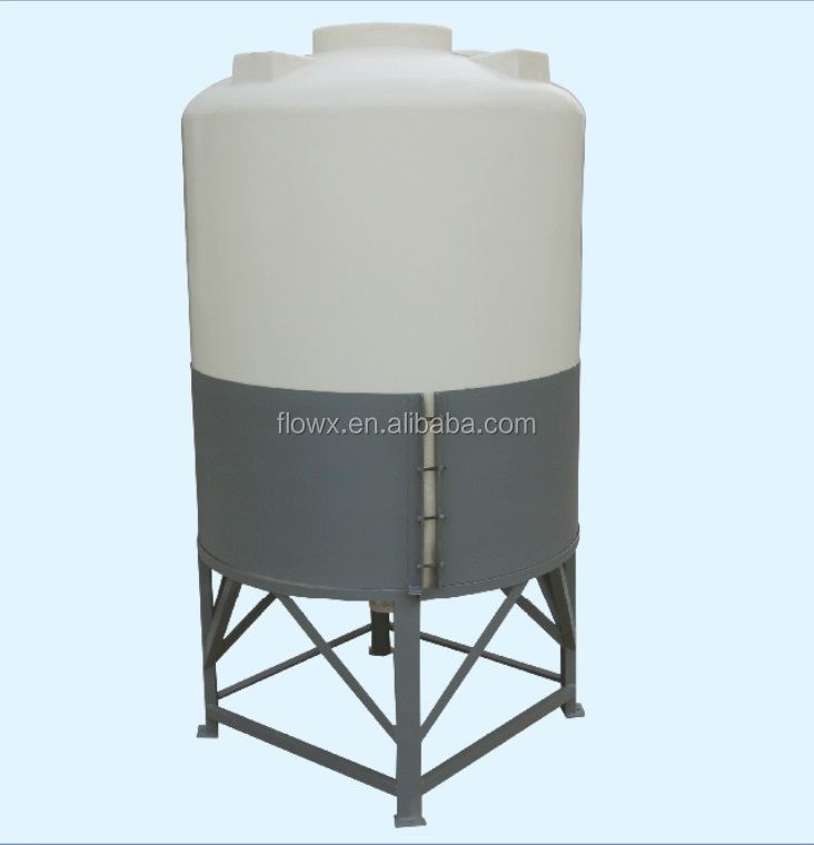 PE 100 to 20000 liter vertical plastic water tank price, Conica bottom Plastic Water tank with support stand