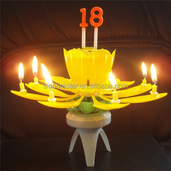 Sparkling Musical Birthday Fountain Candle