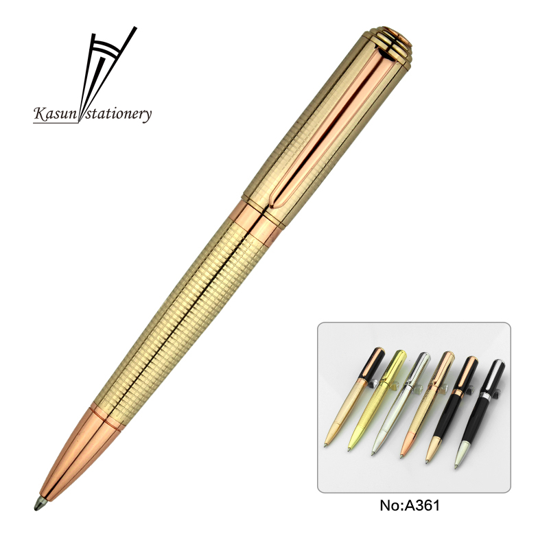 Best selling products office stationery gold color luxury ball pen