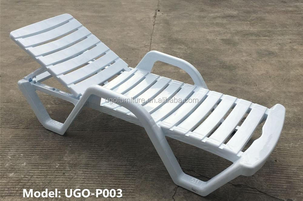 Outdoor Plastic Beach Sunbed Hotel Chaise Lounge Teslin