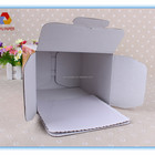 Paper cardboard birthday corrugated paper cake boxes, cake box with handpiece/window