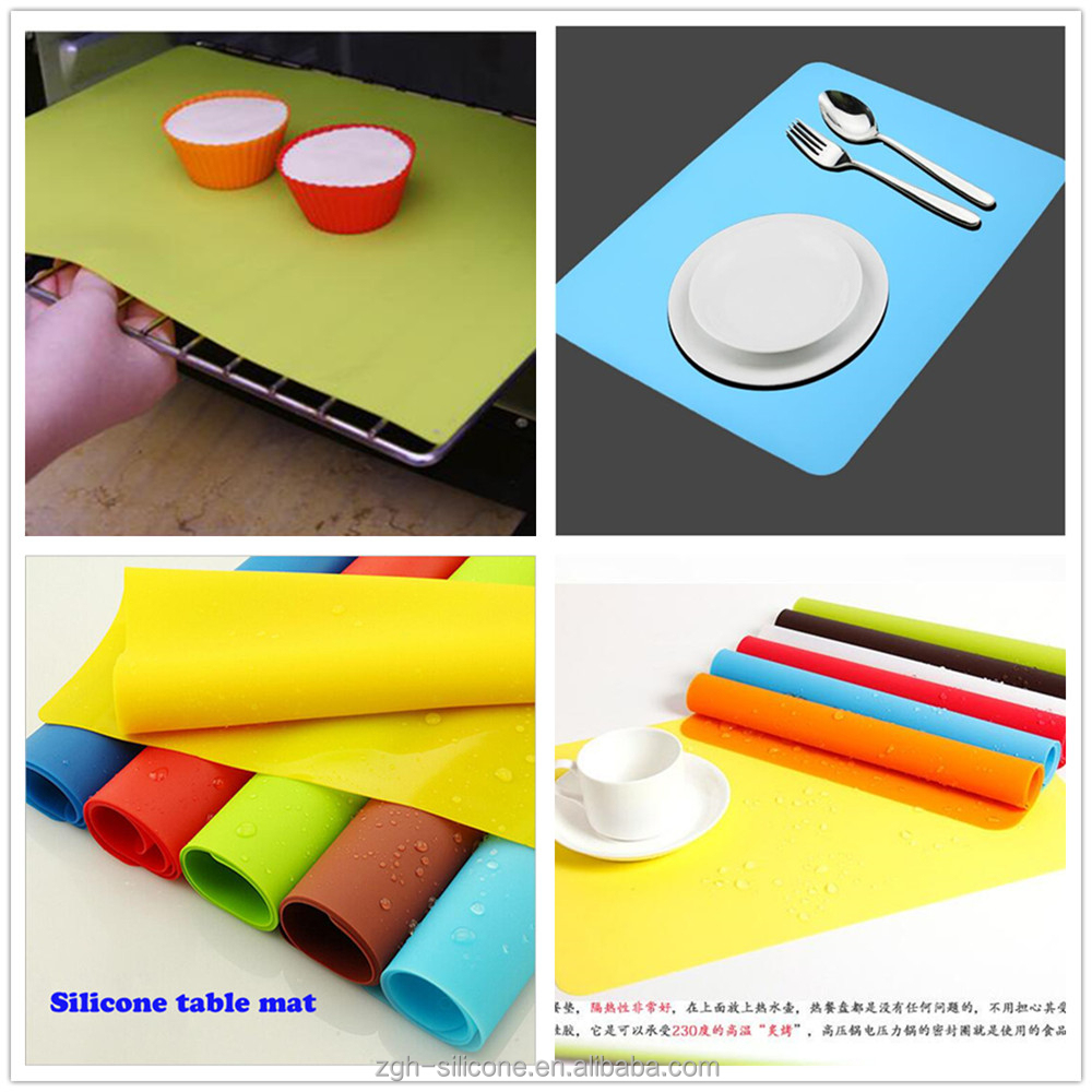 non stick backing mat colorful silicone mat with custom printing