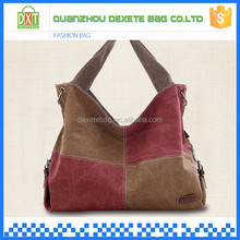 One main comparent with two handle strap canvas wholesale hand bags