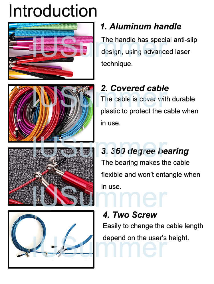 Adjustable Private Label Jump Rope Private Label Cable