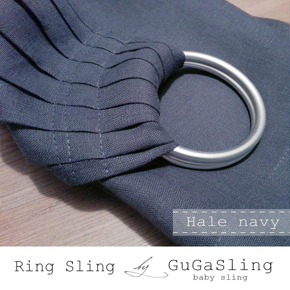 09452b60675 Get Quotations · Baby ring sling GuGaSling Hale navy pure linen with gift  bag