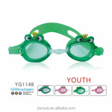 funny waterproof with anti fog kids swimming goggles