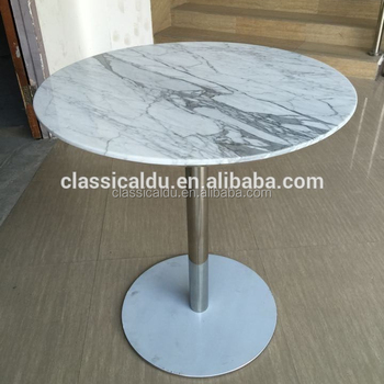 Marble Dining Table, Round Marble Table, Marble Restaurant Dining Table  CT 028