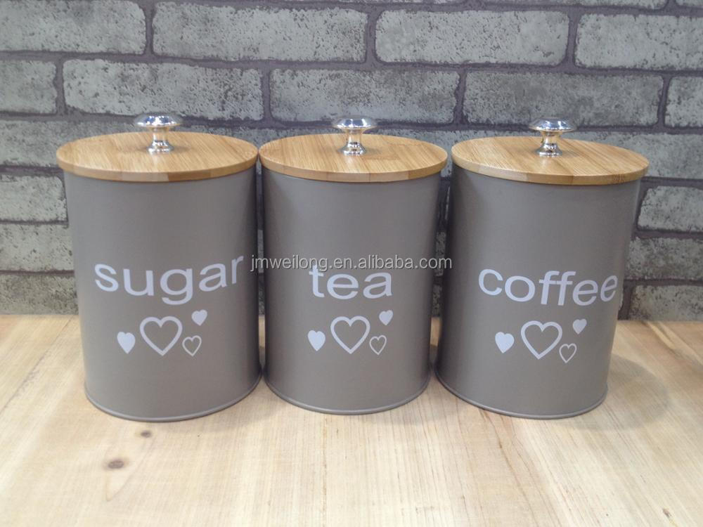 Verwonderend Nieuwe Aangepaste Patroon Keuken Metal Caddy Thee Suiker Koffie UM-99