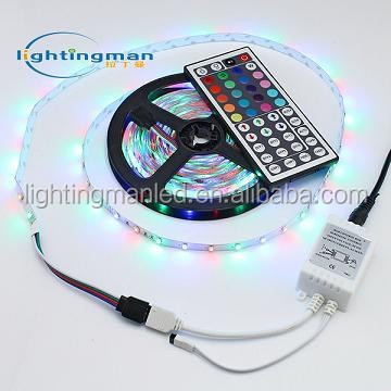 Flexible SMD LED strip 3528 60d RGB side emitting led chain