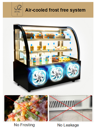 130L Hot Sale Counter Top Cake Display Refrigerator
