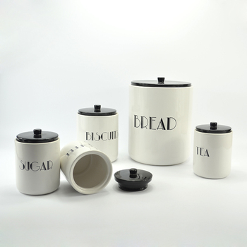 cheap kitchen canister sets wholesale modern style decal set of 5 ceramic kitchen canister sets buy kitchen canister sets 3717