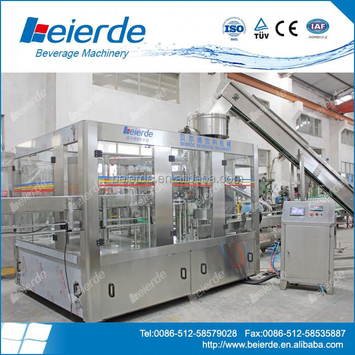 Chinese 24 washing filling capping heads for sparkling water / pepsi water bottling plant