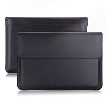 PU Leather Ultra Slim Laptop Sleeve Case for MacBook Air/Pro Bag with Accessory Pocket & Pen Holder