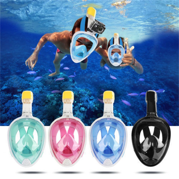 Full Face Mask Surface Snorkel Scuba Swimming Diving Breath for GoPro L/XL/S/M