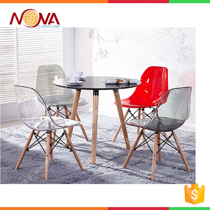 Wholesale Garden Furniture Cheap Used Clear Plastic Material Polycarbonate  Resin General Colorful Wooden Garden Chairsfor Sale