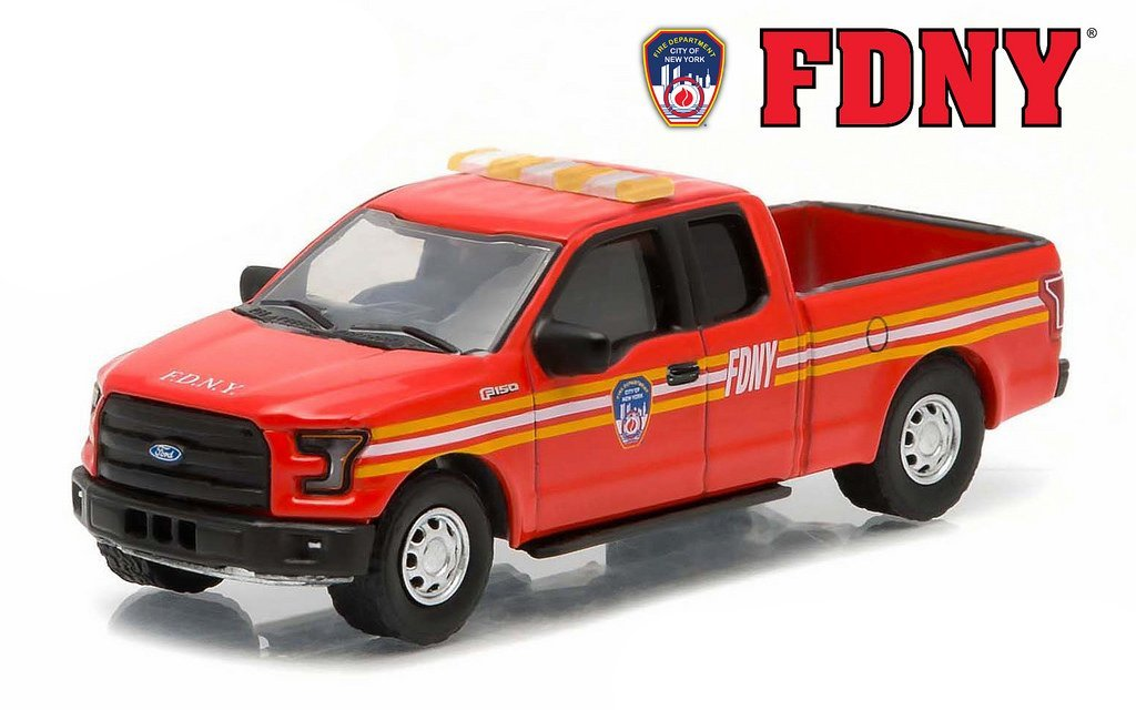 2015 Ford F-150 The Official Fire Department City of New York FDNY Hobby Exclusive 1/64 by Greenlight 29833