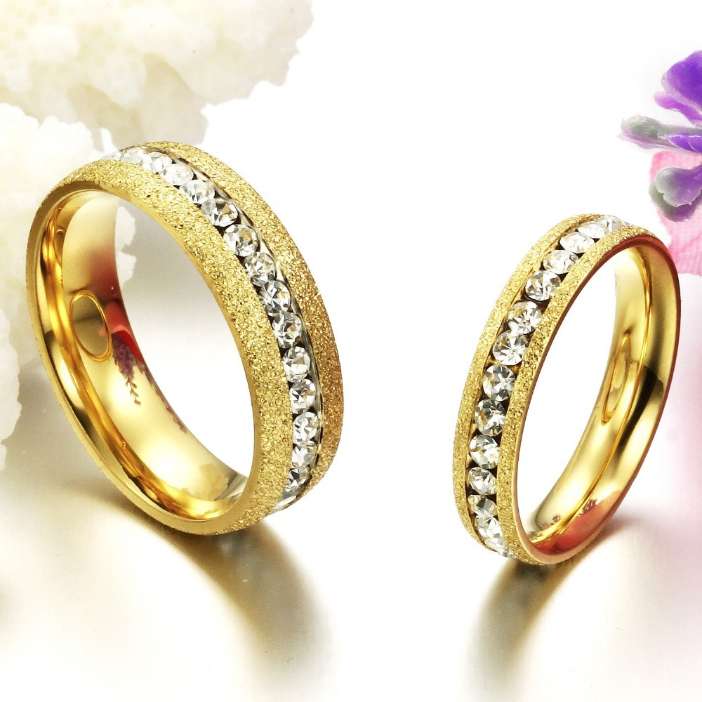 buy gold wedding rings for women gold filled stainless steel couple