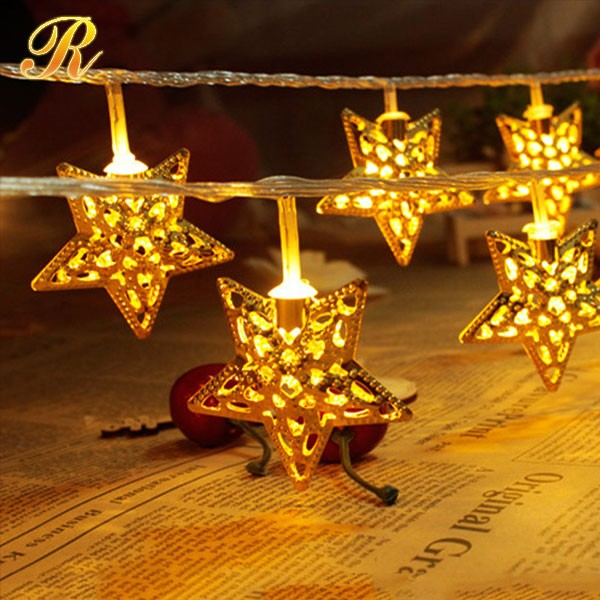 Fairy star led string lights for ramadan decorations