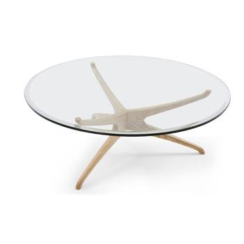 Design De Mode Moderne Table En Verre Rond Table Basse Avec Pieds En Bois Massif Pour Salon Buy Table Basse Moderne Table Basse Ronde Table En