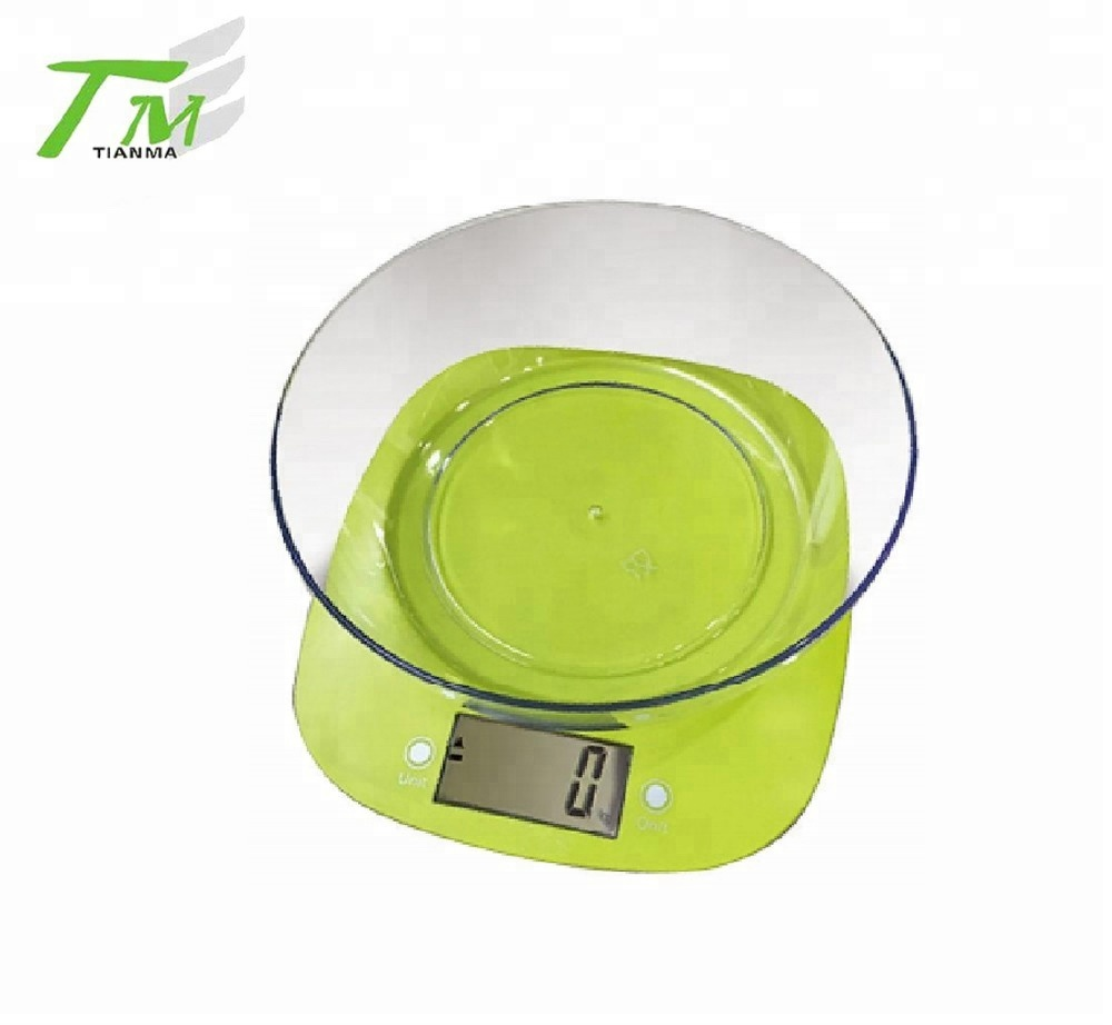 Electronic kitchen digital weighing scale kitchen food scale with bowl household scale
