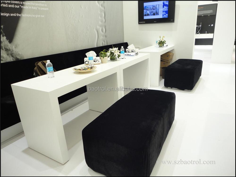 White Color New Design Nail Technician Station Counter Table For Bar Salon Furniture