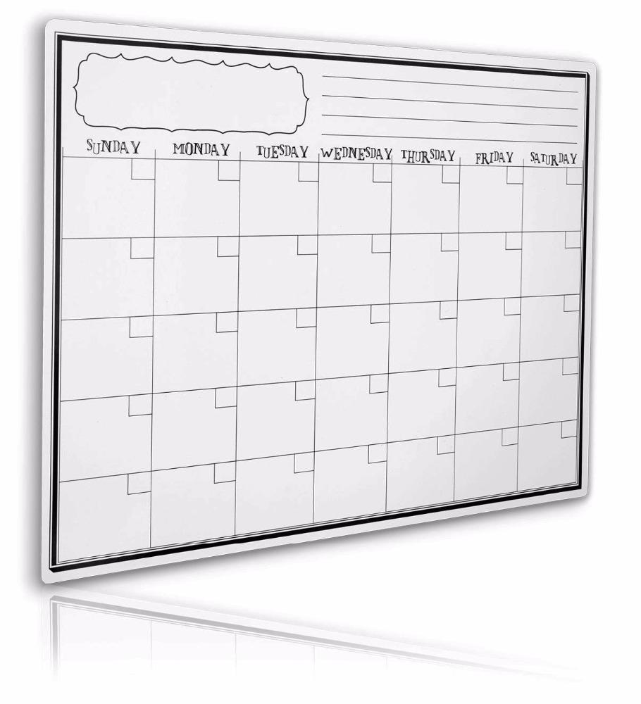 Magnetic Monthly Calendar For Refrigerator : Magnetic fridge calendar monthly dry erase magnet fridge