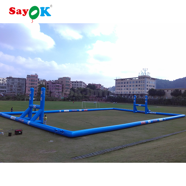 giant adult outdoor portable soccer sports background inflatable rugby field