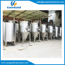 Stainless Steel Glycol jacket Cone Beer Fermenter Fermentation Tank