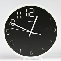 Factory direct saling Glass clear acrylic wall clock