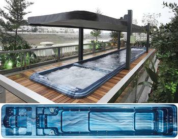 Spa product fiberglass swimming pool massage hot tub combo FS-S10 ...