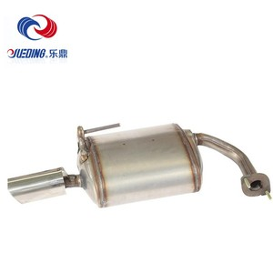 Universal Auto Polished Straight Weld-on Stainless Steel Exhaust Muffler