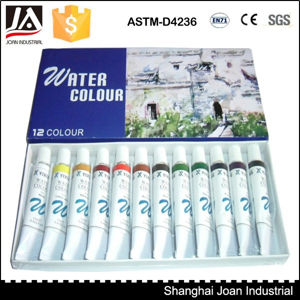 12 pcs 12 ml diy pintura em aquarela