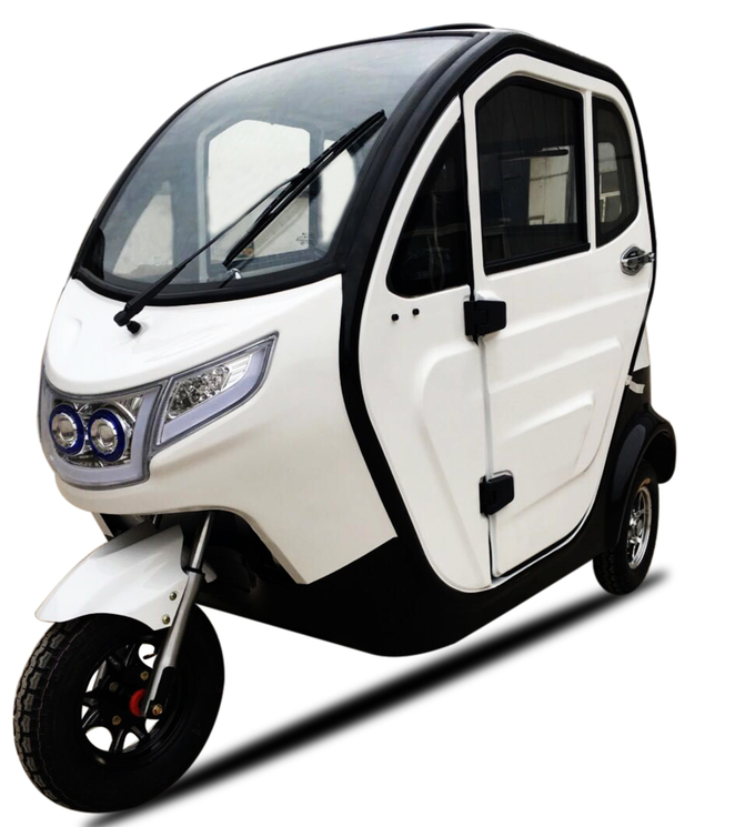 2017 New fully enclosed electric tricycle with 4 people