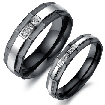 Tryme Free Shipping Stainless Steel Wedding Bands Rings Korean Jewelry His Hers