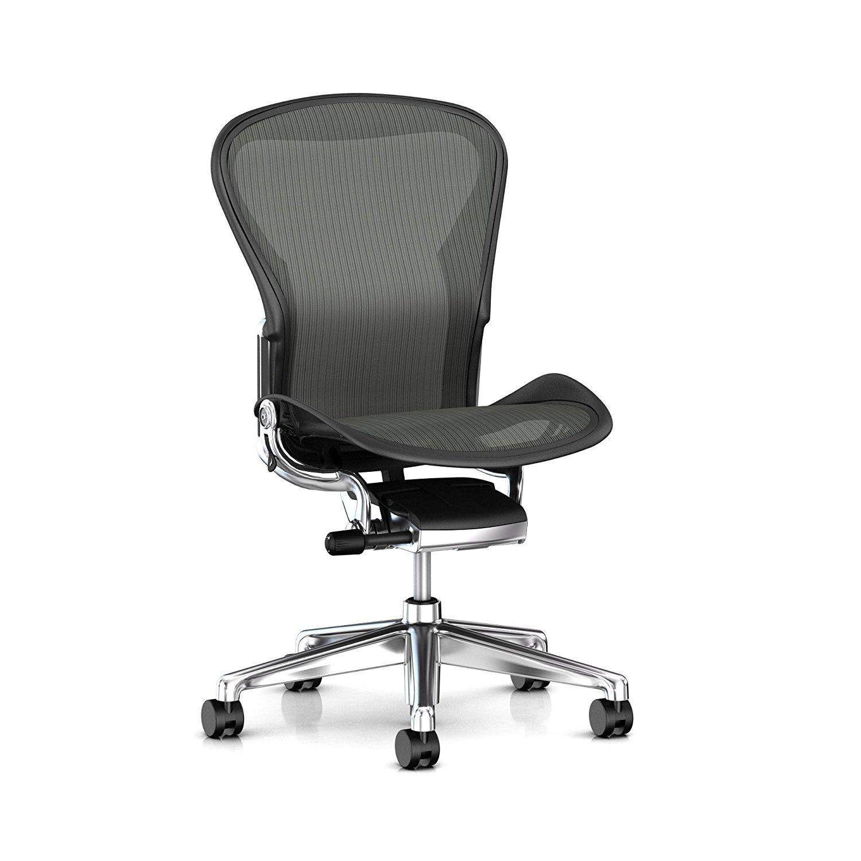 Get Quotations · Herman Miller Aeron Task Chair: Standard Tilt   Zonal Back  Support   Armless   Hard