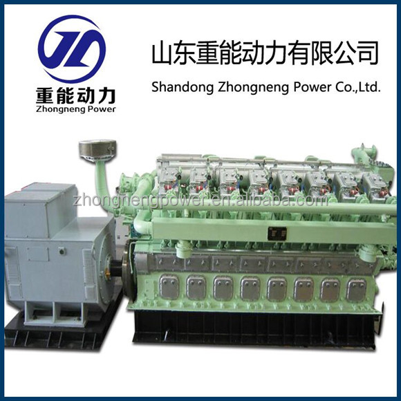 Top Brand 1500kw Turbo-charged Marsh gas/Biogas engine and generator set