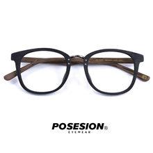 Мужские и женские оправы для очков Posesion, большие винтажные деревянные оправы для очков ручной работы в стиле ретро, оптические очки с прозра...(Китай)