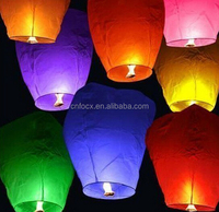 Sky Lanterns Paper Fire Candle / Flying Party Lamp / fly papaer lantern