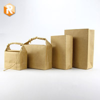 Custom New Design Kraft Paper Bag for Rice Bag Food Stand Up Paper Packaging Bag Shopping and Gift