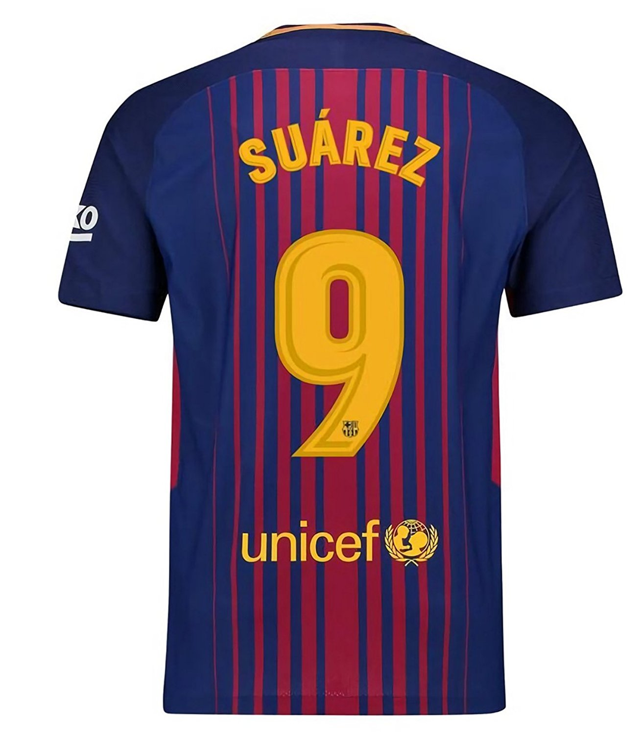 f74552731 Get Quotations · Qunist 2017-2018 Season Barcelona Suarez 9 Home Soccer Jersey  Mens Color Blue Size M