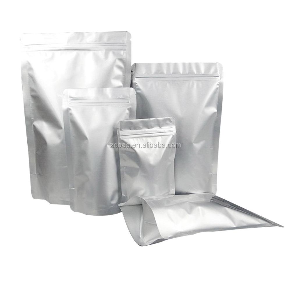 Стоьте вверх мешок алюминиевой фольги для упаковки еды любимчика/стоьте вверх мешок алюминиевой фольги упаковывая мешок застежка-молния Серебряный пластиковый мешок фольги