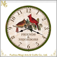US Style home decorative round Numeral antique reproduction wall clocks
