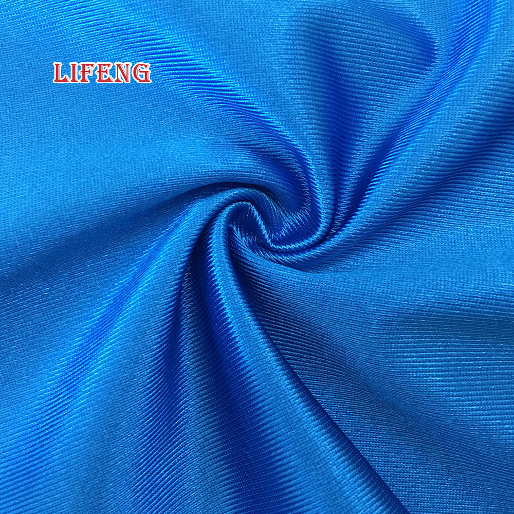 100% polyester tricot dazzle fabric for football garment
