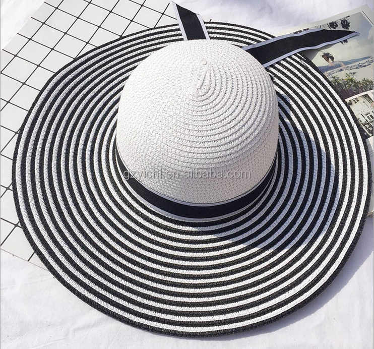 2017 Summer Girl Decoration Boater Hat Straw Sombrero